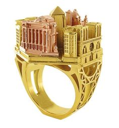 architectural ring, Philippe Tournaire, Paris