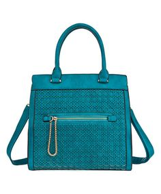 Another great find on #zulily! Blue Circle Grid Tote by Fabulous Age #zulilyfinds