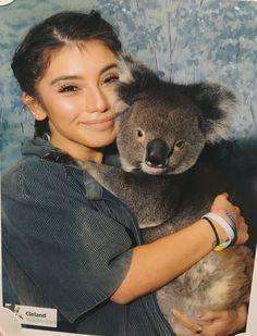 Kirstin with a koala