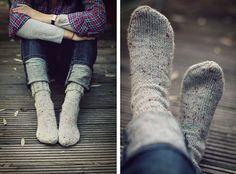 cozy sock feet.