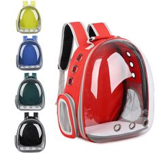 Cat Kitten Carrier Transparent Space Capsule Pet Carrier Puppy Dog Backpack #Unbranded