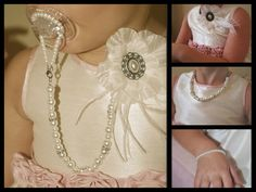 4-in-1 Pacifier Holder White Flower with от OnlyPealsAndLace