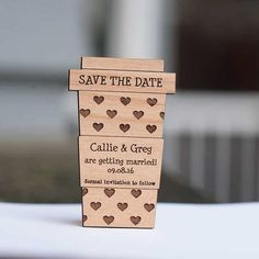 Latte Love Save the Date Wedding Favors