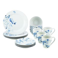 Baum Brothers Tangiers Turquoise 16-Piece Dinnerware Set ...