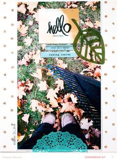 hello fall... by maggie massey at @studio_calico @MaggieWMassey for @studio_calico Walden Kits #maggiemassey #studiocalico #scrapbooking