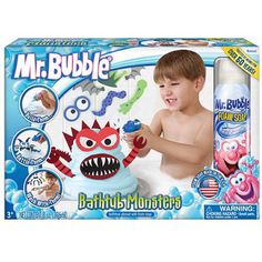 Remember Mr. Bubble? Kids can make monsters now using Mr. Bubble :) #bathtub #toys