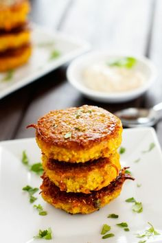 Curried Sweet Potato Quinoa Patties with Spicy Yogurt Sauce recipe from Cooking Quinoa. Sound wonderful and simple to make.