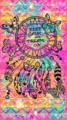 Keep Calm & Dream On Galaxy Wallpaper #androidwallpaper #iphonewallpaper #wallpaper #galaxy #sparkle #glitter #lockscreen #pretty #pink #cute #girly #dreamcatcher #keepcalm #quotes #dream #pattern #art #colorful
