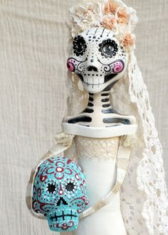 Sugar Skulls using Creative Paperclay® | Memories of Mine to Thine