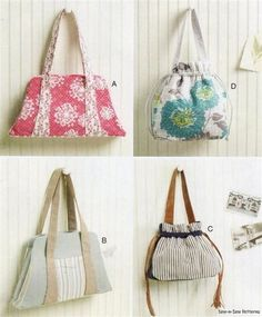 McCalls 6522 SEWING PATTERN Laura Ashley Handbag Fabric Purse Boutique Bag | eBay