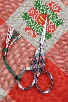Sajou Tartan scissors , France