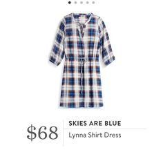 SF - shirt dress with flannel or plaid