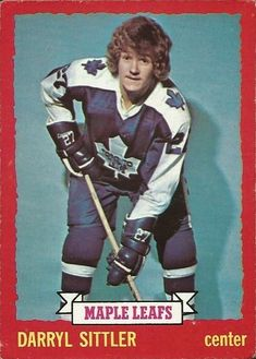 Darryl Sittler of the Toronto Maple Leafs 1973-74 O-Pee-Chee hockey card.