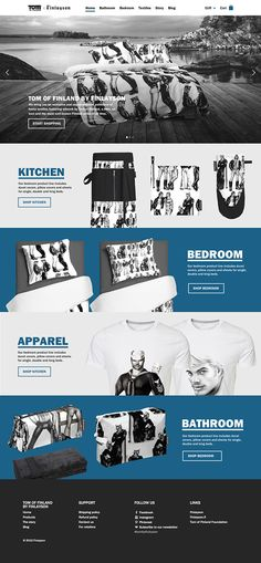 Tom of Finland by Finlayson. Global commerce. #ux #webdesign #webshop