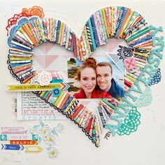 #papercraft #scrapbook #layout. 7th Anniversary by PaigeEvans at @studio_calico
