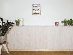 Holzpaneel dekoriert