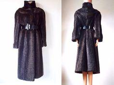 60s European Beaver Fur Classy Wide Sleeve Long by VintageHongrie