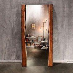 Напольное зеркало из массива дерева!