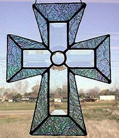 Stained Glass and bevel cross