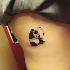 Cute panda tattoo   Follow @best.calligraphy.videos for more !  Artist : Unknown  Also follow @daily.artvideos & @art__explorer