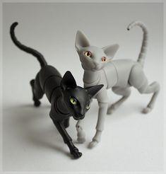 3D printable bjd cat