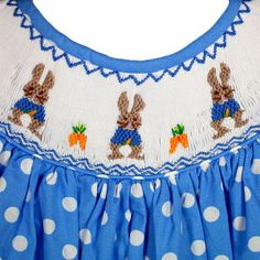 OE Bishop Blue Polka dot Bunny  42