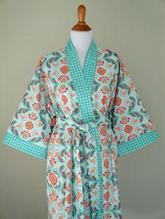 Kimono Robe  Plus size Midcalf length Bathrobe by KimonoRobeJSues, $79.99