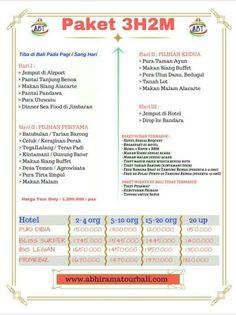Paket tour / wisata / liburan ke bali