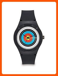Jack Spade Men's Archery Watch with Rubber Band, Black, One Size - Fun stuff and gift ideas (*Amazon Partner-Link)