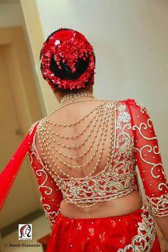 Designer blouse back neck