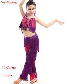 Cheap dance dress for girls, Buy Quality latin dance dress directly from China dance dress Suppliers: 2016 Tassel Latin Dance Dress For Girls Rose/Red/Green Ballroom Tutu 2piece(Top+Fringe Pants) Dancing Competition Salsa Costumes