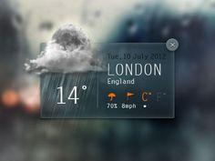 Dribbble - Weather Widget by Angelo Semeraro