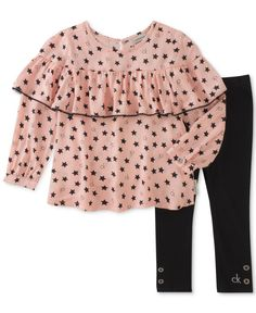 71594b80e99e Calvin Klein 2-Pc. Shirt & Leggings Set, Toddler Girls (2T-4T) & Reviews -  Sets & Outfits - Kids - Macy's