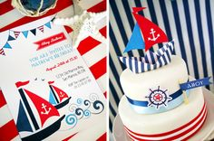 How about some #anchors inspiration for a birthday party too? #pinparty