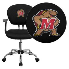 Flash office chair - Pin it :-) Follow us :-)) AzOfficechairs.com is your Office chair Gallery ;) CLICK IMAGE TWICE for Pricing and Info :) SEE A LARGER SELECTION of  flash office chair at http://azofficechairs.com/?s=flash+office+chair - office, office chair, home office chair -  Flash Furniture Maryland Terrapins Embroidered Black Mesh Task Chair with Arms and Chrome Base « AZofficechairs.com