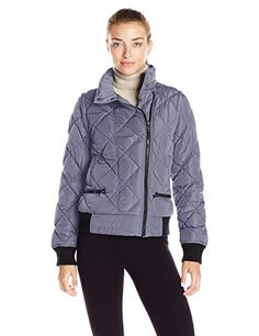 Women's Athletic Jackets - Marc New York Performance Womens Asymmetric Puffer Moto Jacket W Zip Off Sleeves ** Visit the image link more details. (This is an Amazon affiliate link)
