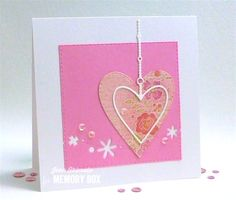 """Jean used the new Devotion Heart and Floral Breeze dies for this """"Love"""" card."""