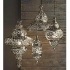 Silver Moroccan Hanging Lamp
