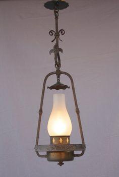 7378. Quaint 1920's Pendant Lantern*, Antique Chandeliers, Antique and Spanish Revival Lighting: Sconces,Chandeliers etc. at Revival Antiques