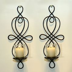 Shop for Adeco Brown Iron Vertical Wall Hanging Candle Holder Sconce (Set of Sconce Candle Holder, Hanging Candle Holder, Wall Hanging Candle Holders, Wall Candles, Clean Candle, Candle Holder Wall Sconce, Wall Candle Holders, Iron Wall Sconces, Iron Wall Decor