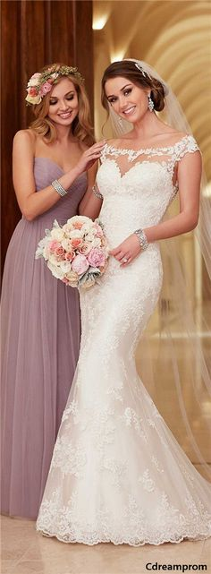 lace wedding dress #wedding #dresses