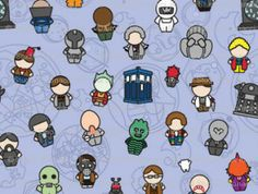 Doctors and Monsters Doctor Who Blanket | Geek-a-bye Baby.  My baby is definitely getting this!