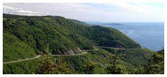 Cabot Trail, Cape Breton Island, Nova Scotia - next time I want to ride it without the rain! Cabot Trail, Cape Breton, Nova Scotia, Schedule, Coastal, Cycling, Tours, River, Island