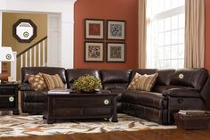 Bassett Furniture has a wide variety of hand-made living room, bedroom, and dining room furniture that works with all styles. Or, design your own with HGTV Design Center Living Room Orange, Paint Colors For Living Room, New Living Room, Living Room Sofa, Home And Living, Living Room Furniture, Living Room Decor, Modern Living, Living Room Designs