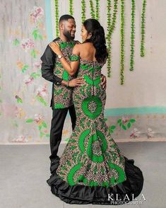 African Bridesmaid Dresses, African Wedding Attire, African Wear Dresses, Latest African Fashion Dresses, African Print Fashion, African Attire, Couples African Outfits, Couple Outfits, Ankara Gown Styles