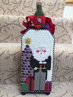 Kathy Schenkel Wine Waiter Santa