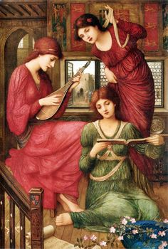 In the Golden Days by John Melhuish Strudwick, 1907.