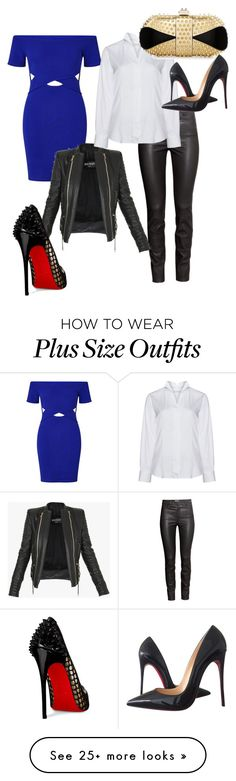 """""""Party essentials"""" by fashionlvr4evr on Polyvore featuring Miss Selfridge, H&M, Balmain, Eterna and Christian Louboutin"""