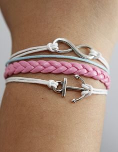 Anchor karma small silver braided pink leather by kahdtfggeg, $5.29 looks like ill be visiting that site.