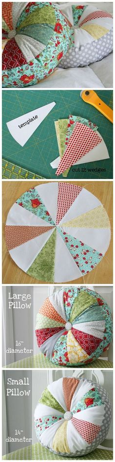 Scrappy sprocket patchwork pillow tutorial